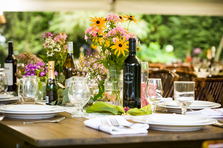 Hemlock Gardens Tent - Tablescape - Smith and Hook Wine