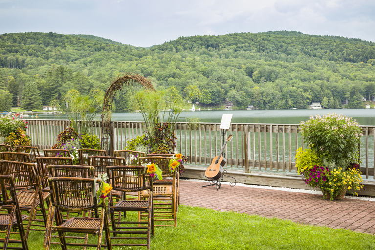 Lakefront Patio Ceremony - Right Side